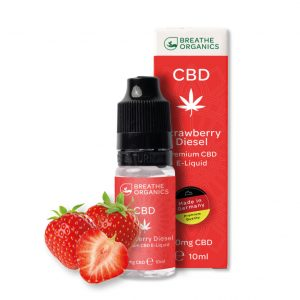 Breathe Organics CBD Liquid Strawberry Diesel