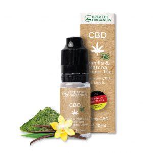 Breathe Organics CBD Liquid Vanilla & Matcha Grüner Tee