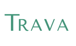 TRAVA Header Logo White Green