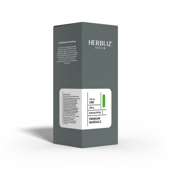 HERBLIZ CBD Badesalz mit Eucalyptus 1