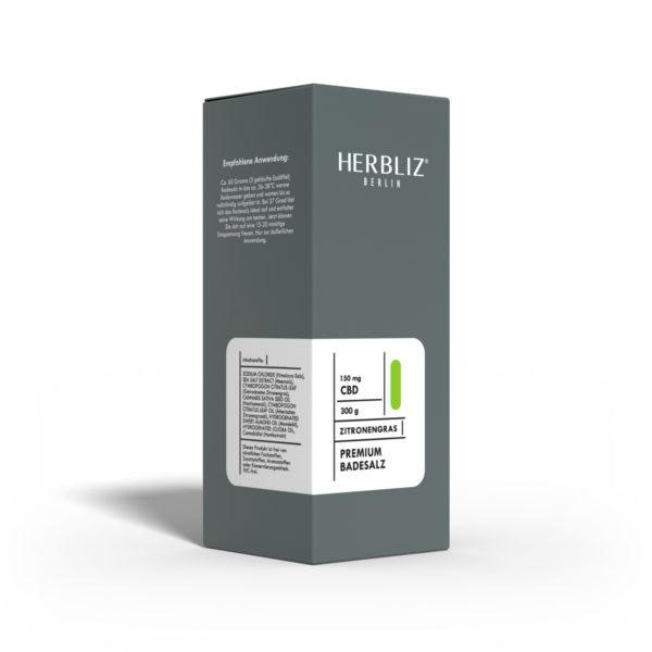 HERBLIZ CBD Badesalz mit Zitronengras 1