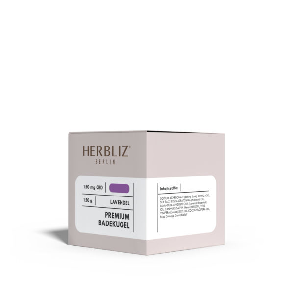 HERBLIZ Lavendel CBD Badekugel