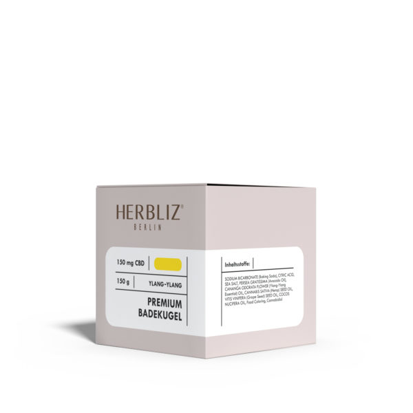 HERBLIZ Ylang-Ylang CBD Badekugel